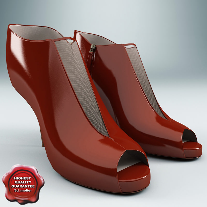 3d model female shoes fendi