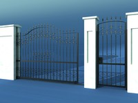 3d wrought gate fence