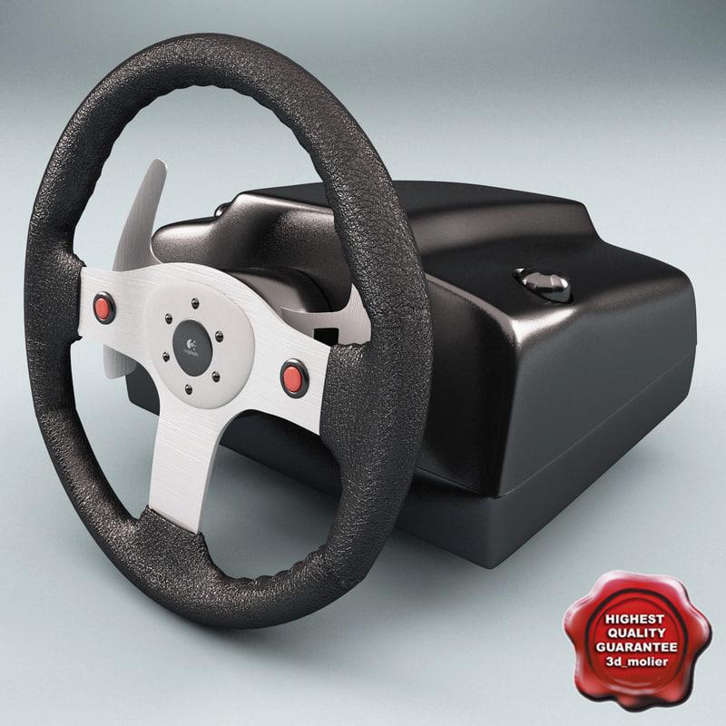 3dsmax logitech racing wheel