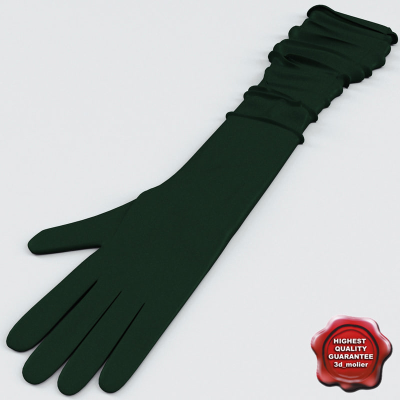 3d long silk gloves