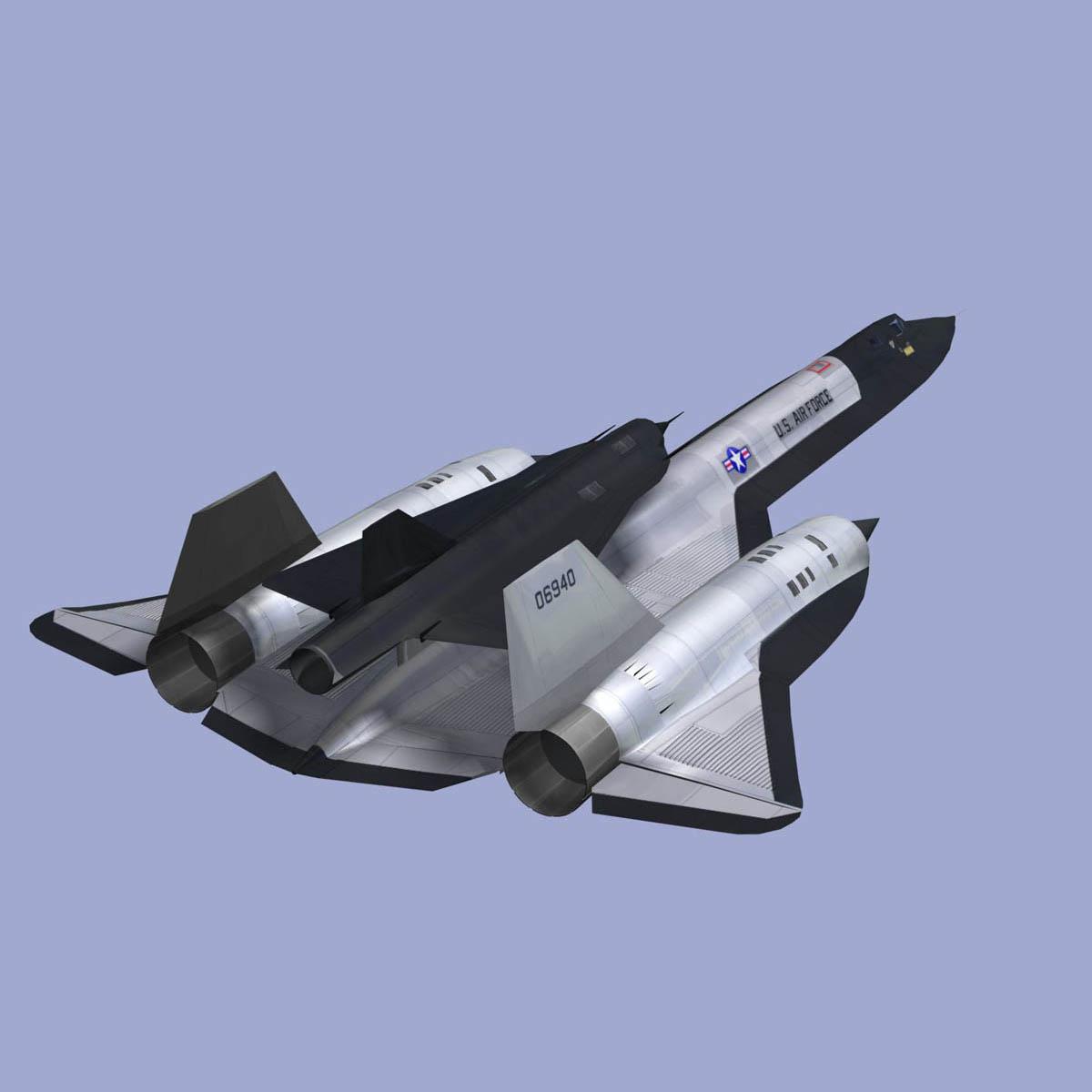 SR71 Black Bird 3D Model .max .obj .3ds .c4d .lwo .lw .lws