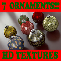 Ornament Collection T - 7 Ornaments Collection - 3ds max 2010 - Mental Ray