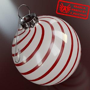 3d model christmas tree ornament 2010
