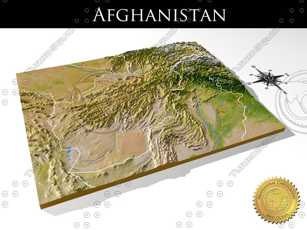 relief afghanistan 3d max