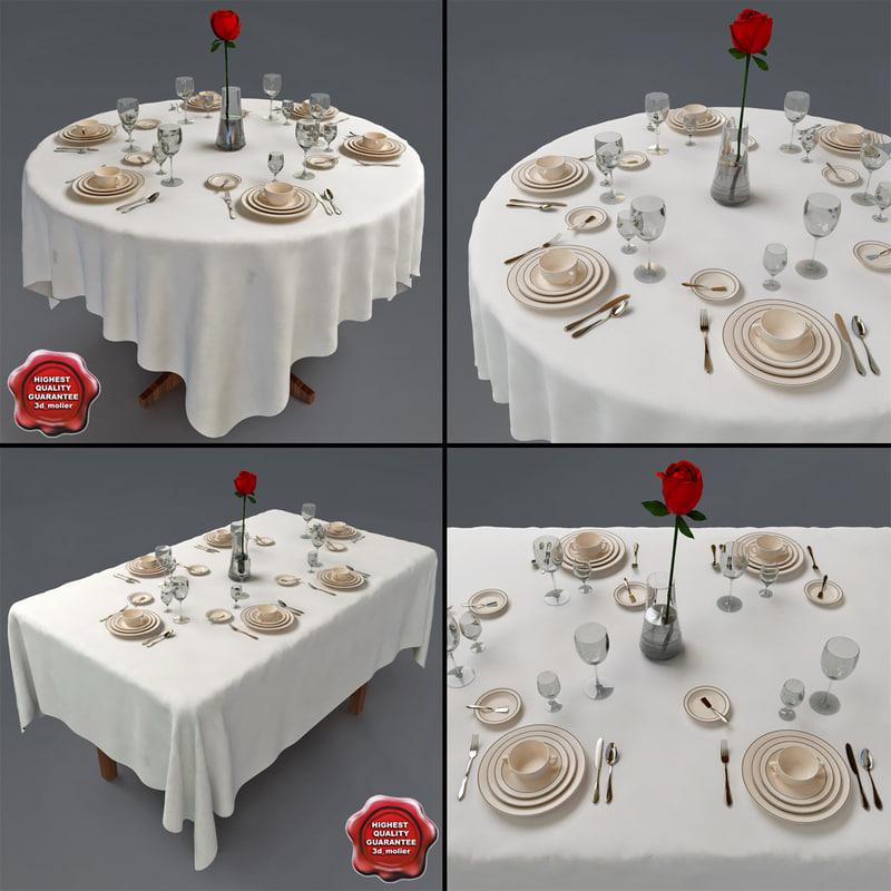 Restaurant Tables D Model - Restaurant table accessories