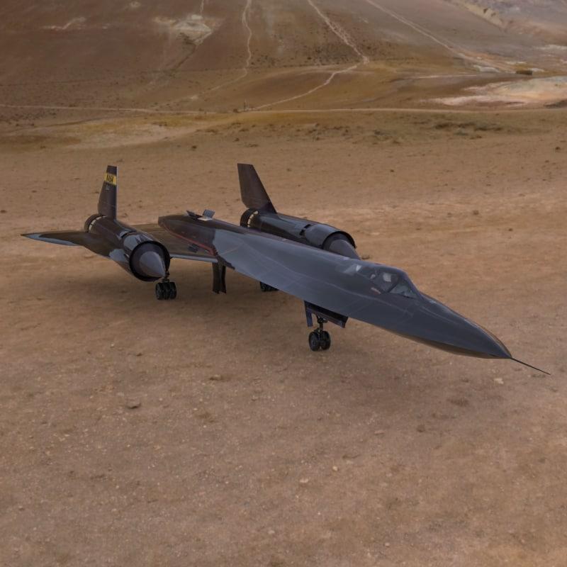 3d model sr-71 aircraft