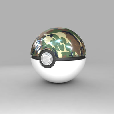 3d model pokemon ball safari