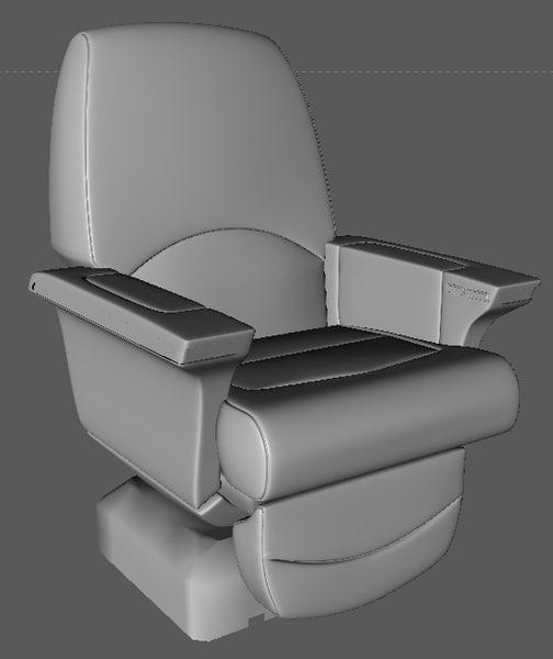 business aircraft seat 3d obj