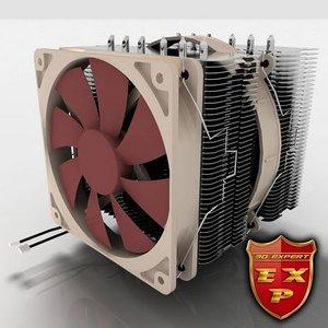 3d noctua cooler fan model