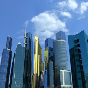 3d skyscrapers model