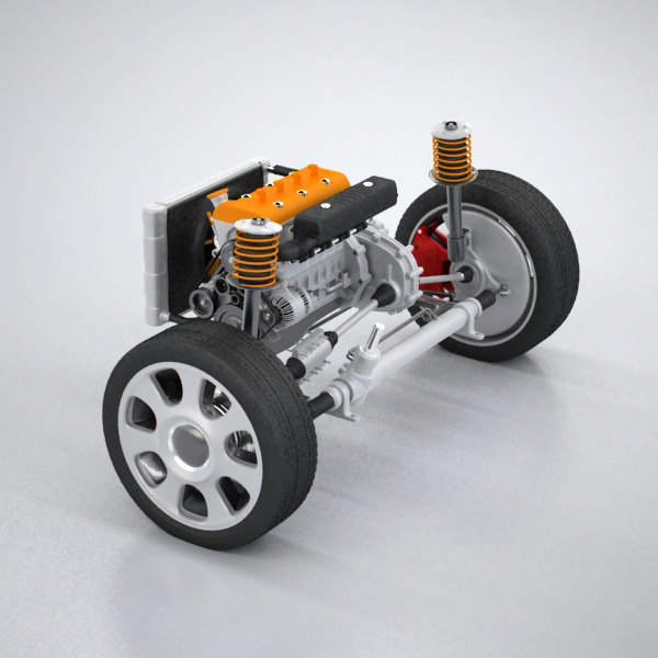 wheel suspension engine 3ds