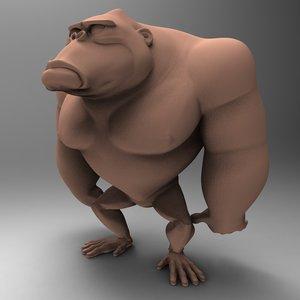 3d ape character