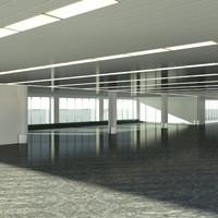 airport interior 3d max