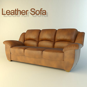 leather sofa 3ds