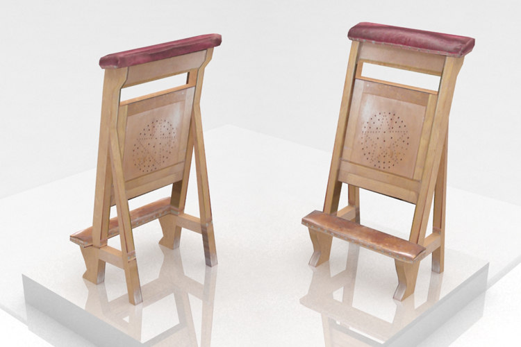 3d model church chair