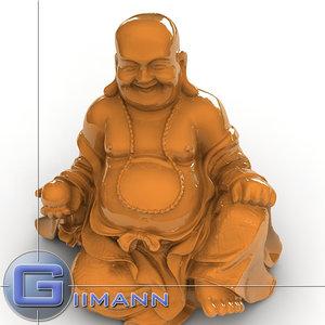 buddha chinese 3d max