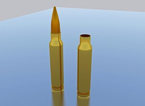 3ds max bullet shell rifle