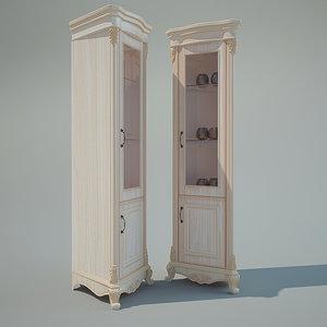 3d corner cabinet