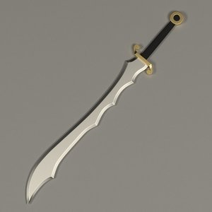 3ds max exotic sword
