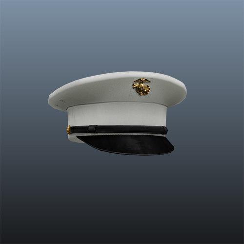 marine hat 3d model