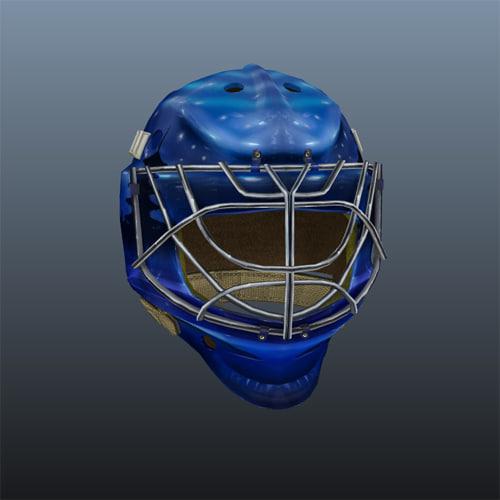 3d hockey goalie