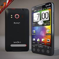 htc evo 4g cell phone 3d model