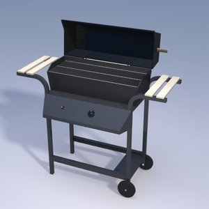 3d gas grill propane
