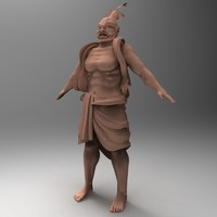 Asian Warrior Sculpture