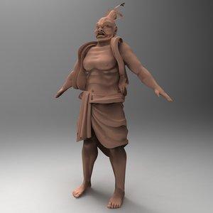 warrior sculpture asia 3d model