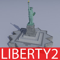 3ds max statue liberty