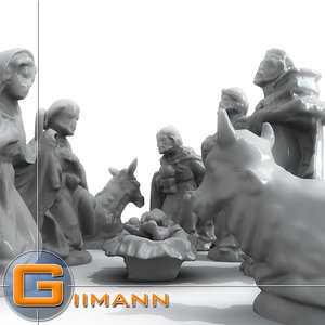 3d model props nativity