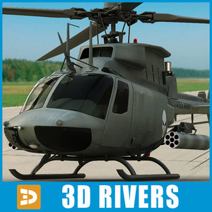 max oh-58d kiowa warrior helicopters