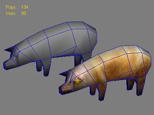 3d model of pig
