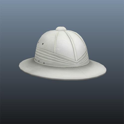 3d model pith hat