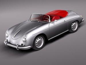 3d porsche 356a 356 sport model
