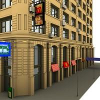 town building 3d model