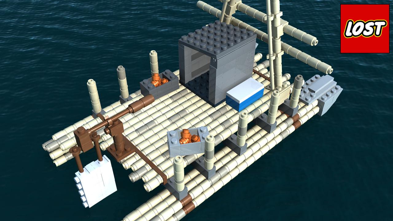 maya lego lost raft