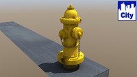 3d city hydrant