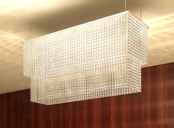 3d model crystal chandelier