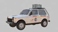 modelled lada niva vfx 3d model