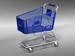 3d model shopping cart kart walmart