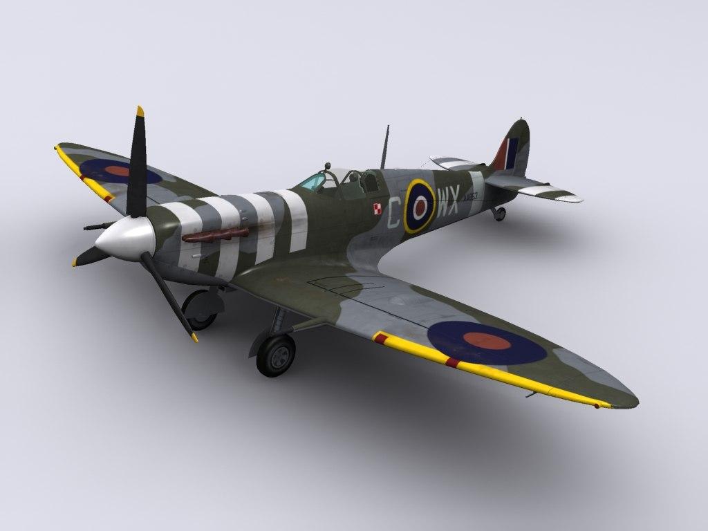 supermarine spitfire fighter mkvb 3ds