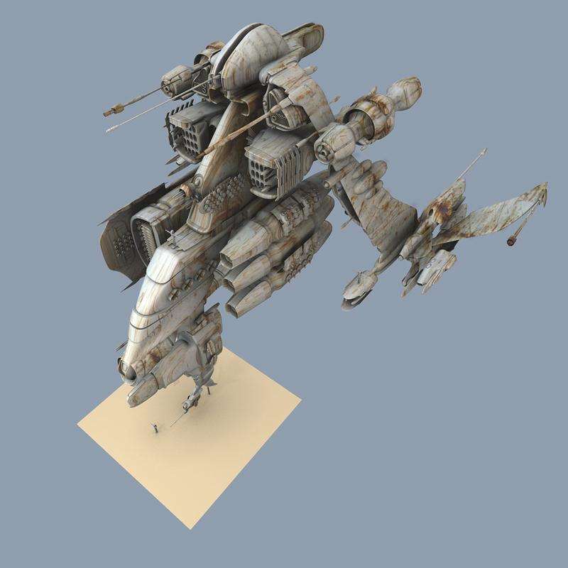free blend model spaceship