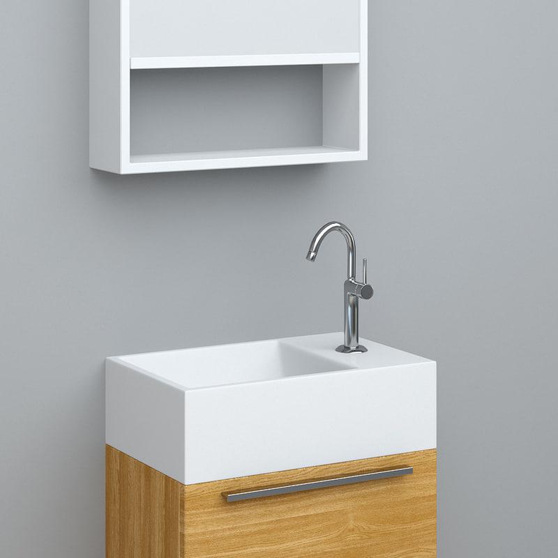 3ds max bathroom wash-basin tona t400