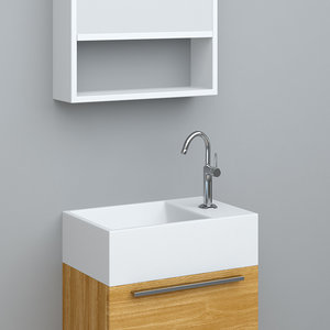 3ds max bathroom wash-basin tona t400