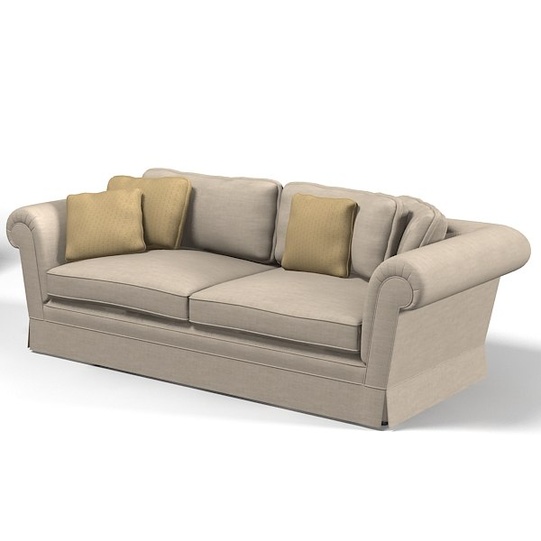 traditional country sofa 3d model