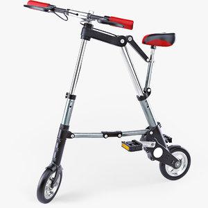 3d v-ray bike folded bicycle