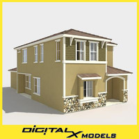subdivision house 3d 3ds