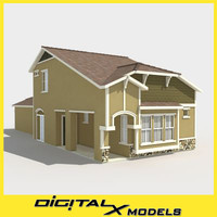 3d model subdivision house