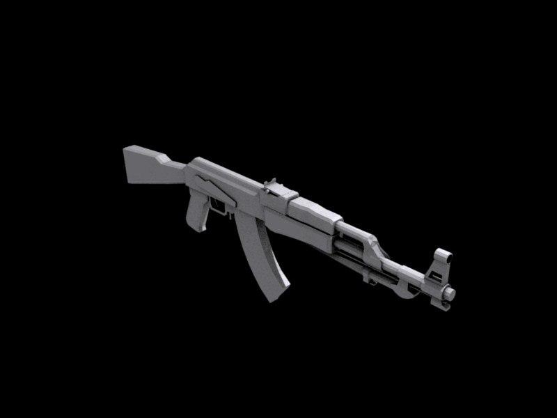 3ds chinese ak rifle type